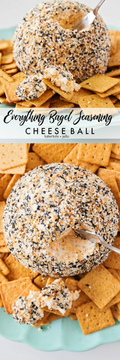 Everything Bagel Seasoning Cheese Ball Recipe - perfect for the holidays!